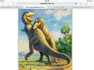 Tyrannosaur battle