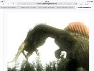 Rugops being shook to death by spinosaurus