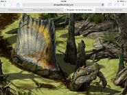 Spinosaurus.in a swamp