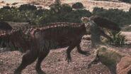 1x2 BrokenJawHoldingOntoTorvosaurus'Neck