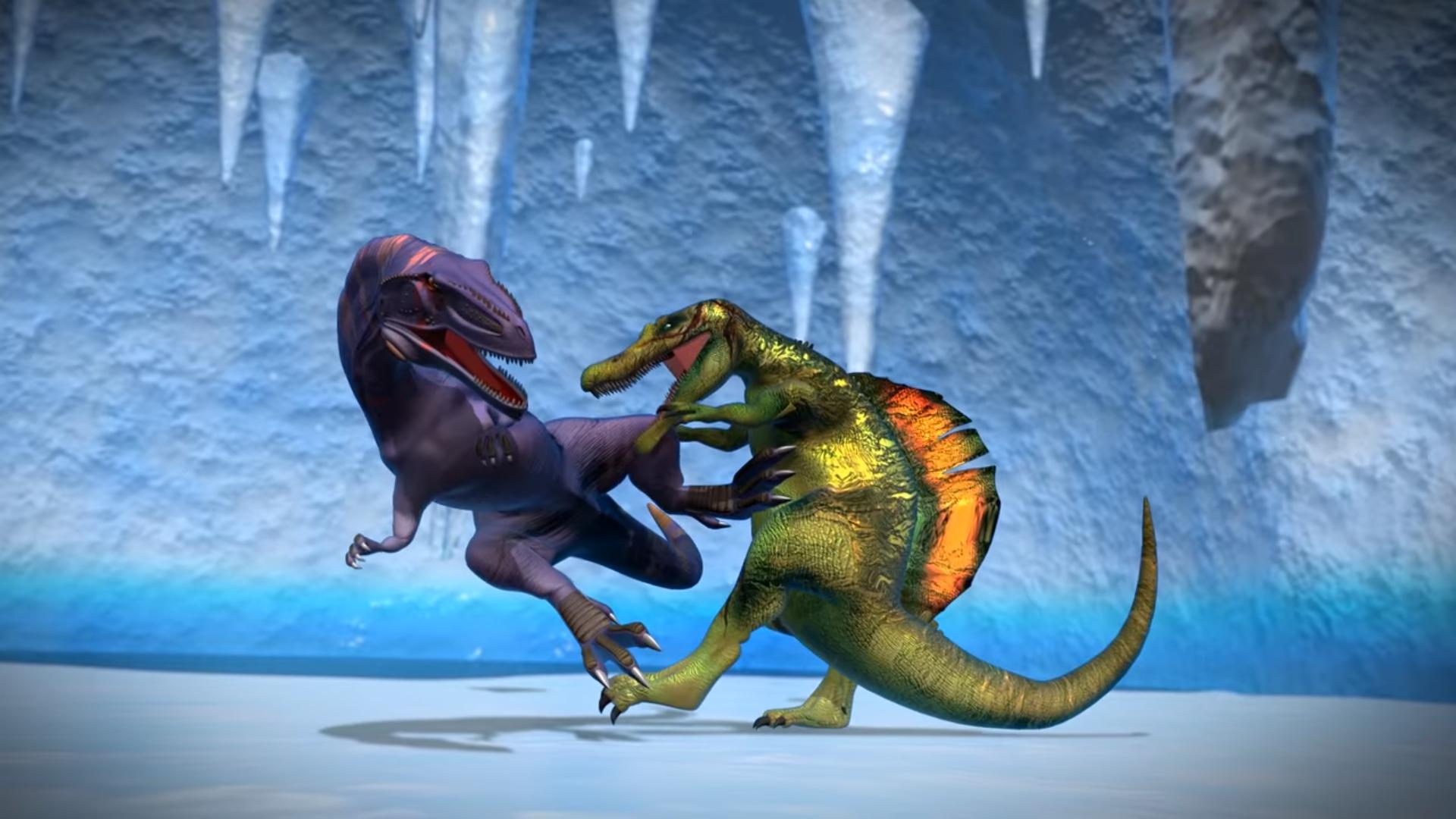 Giganotosaurus vs Spinosaurus | Dinosaurs Battle World ...Giganotosaurus Vs Spinosaurus