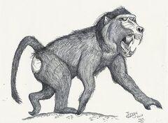 Dinopithecus ingens by hodarinundu-d15nbvf.jpg