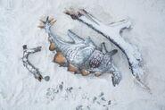 Dead-stegosaurus-under-snow-winter-land-goes-towards-extinction-ice-age-background-142726480