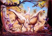 Running Beipiaosaurus