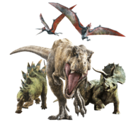 Jurassic world fallen kingdom rexy and her guards by sonichedgehog2-dc84ahf
