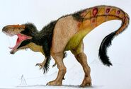 The mega theropod gigantosaurus by thegreatestloverart d8zx3uz-fullview