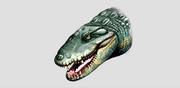 Globidentosuchus brachyrostris head design
