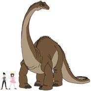 Riley and Elycia meets Diplodocus (1)