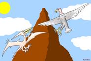 Pteranodon vs argentavis by maleiva d14hd34