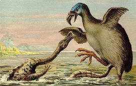 Brontornis VS Hadrosaur