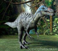 C0013806-Suchomimus dinosaur, artwork-SPL