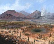 C0030074-Late Devonian landscape, artwork