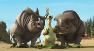 Carl & Frank angry at Sid ruining their salad