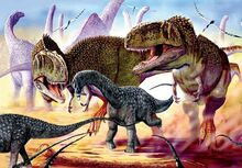 Mapusaurus hunting Argentinasaurus
