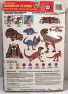1992 Jurassic Park Magic Cling Window Scenes by Craft House 2