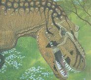 I-3fb3f9ced21ced9df158781224b9da57-Tyrannosaurus head detail Greg Paul 19-5-2009