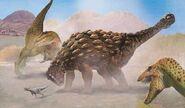 Euoplocephalus vs tyrannosaurs