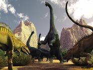 Acrocanthosaurus hunting Sauroposeidon