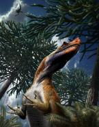 Saltriovenator zanellai life restoration