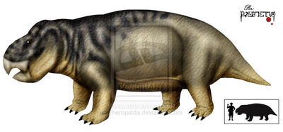 Dicynodont giant Poland by Theropsida
