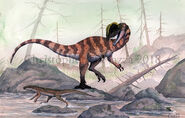 Dilophosaurus and Protosuchus
