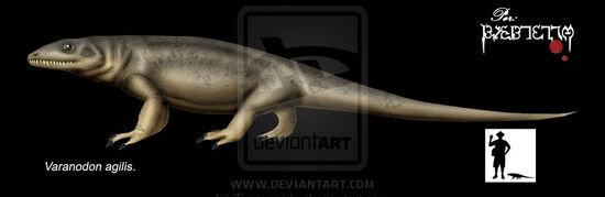 Varanodon agilis by Theropsida