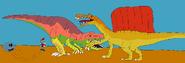 Carcharodontosaurus vs spino by kevinlaboratory dd0ruxi