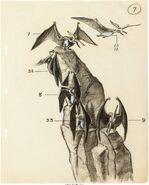 New York World's Fair Magic Skyway Concept Sketch Pteranodon