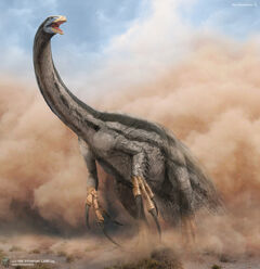 Therizinosaurus the stompling land 03 by swordlord3d-d7zmc3d