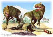 Cryolophosaurus attack