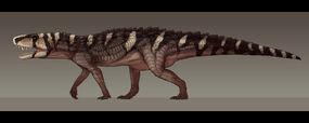 Rauisuchus tiradentes by paleocolour-d9gu6ml