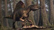 Spinosaurus vs Carcharodontosaurus The balance of power Planet Dinosaur BBC