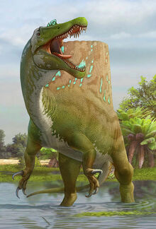 A-large-spinosaurus-lets-out-a-loud-sergey-krasovskiy
