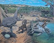 Life restoration of Madagascar megafauna ecosystem