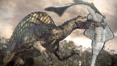 Onchopristis and spinosaurus