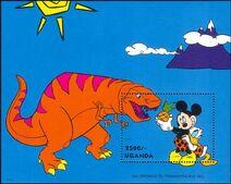 Disney T-Rex stamp