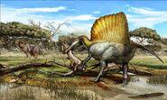 Spinosaurus-Laganosuchus-Rugops-