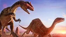 Camptosaurus and allosaurus