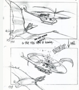 Geosternbergia attacks a helicopter on storyboard