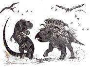 Kosmoceratops vs teratophoneus by hodarinundu-d38ha7s 8174