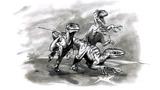 Raptor trio Disney Dinosaur concept art