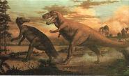 Tirannosauro e tracodonte