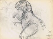 Drawing of T-rex 6