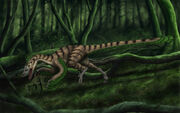 Commission Deinonychus by Sheil