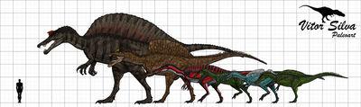 Spinosauridae by vitor silva-d5g3w1b