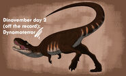 Dinovember 2018 day 2 dynamoterror by allotyrannosaurus dcr0sgs