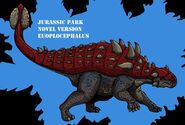 Jurassic park novel euoplocephalus updated by hellraptor-d8nt8qa