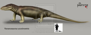 Varanosaurus acutirostris by Theropsida