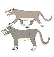 Amphicyon bear dog study by teamartists d30c2dp