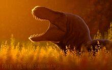 Resting tyrannosaurus rex by fredthedinosaurman d91km60-fullview